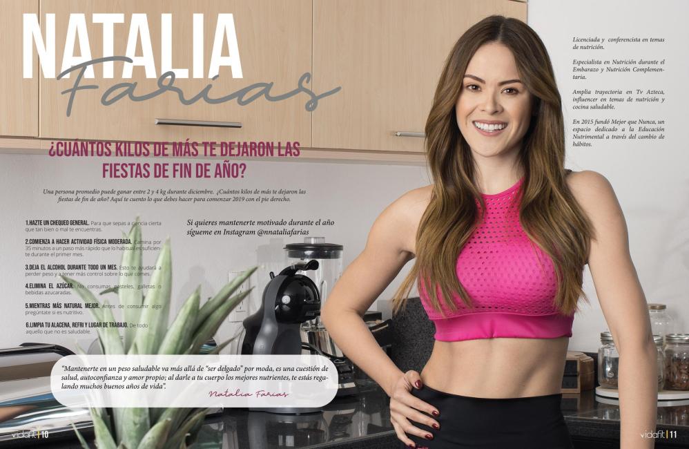 Natalia Farías para la revista VIDAFIT